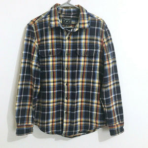 American Eagle AE Shirt Mens Flannel Plaid M Blue